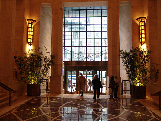 The lobby of the Four Seasons hotel in Manhattan