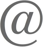"""A large """"at"""" symbol"""
