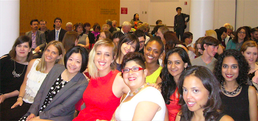 from left to right, front row: Dora Sapunar, Lindsay Reichart, Chen-Yu Lo, Sarah Lillenberg, Gigi Polo, Tia Remington-Bell; second row: Weiwen Cai, Salem Tsegaye, Kamala Murali, Divia Padayachee.