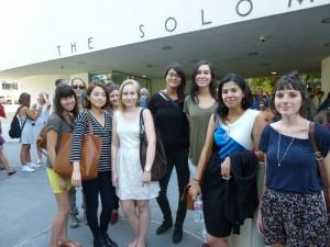 Left to right: Micki Unterberg, Anke Gruendel, Soohee Cho, Gene Duval, Sonja Holopainen, Laura Sancez, Estefania Acosta, Quizayra Gonzales, Laura Belik.