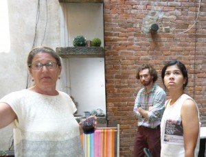 Left to right: Architect Linda Pollak, Misha Volf, Quizayra Gonzales