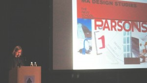 Professor Yelavich at the FAIR Design Conference in Warsaw, Poland.