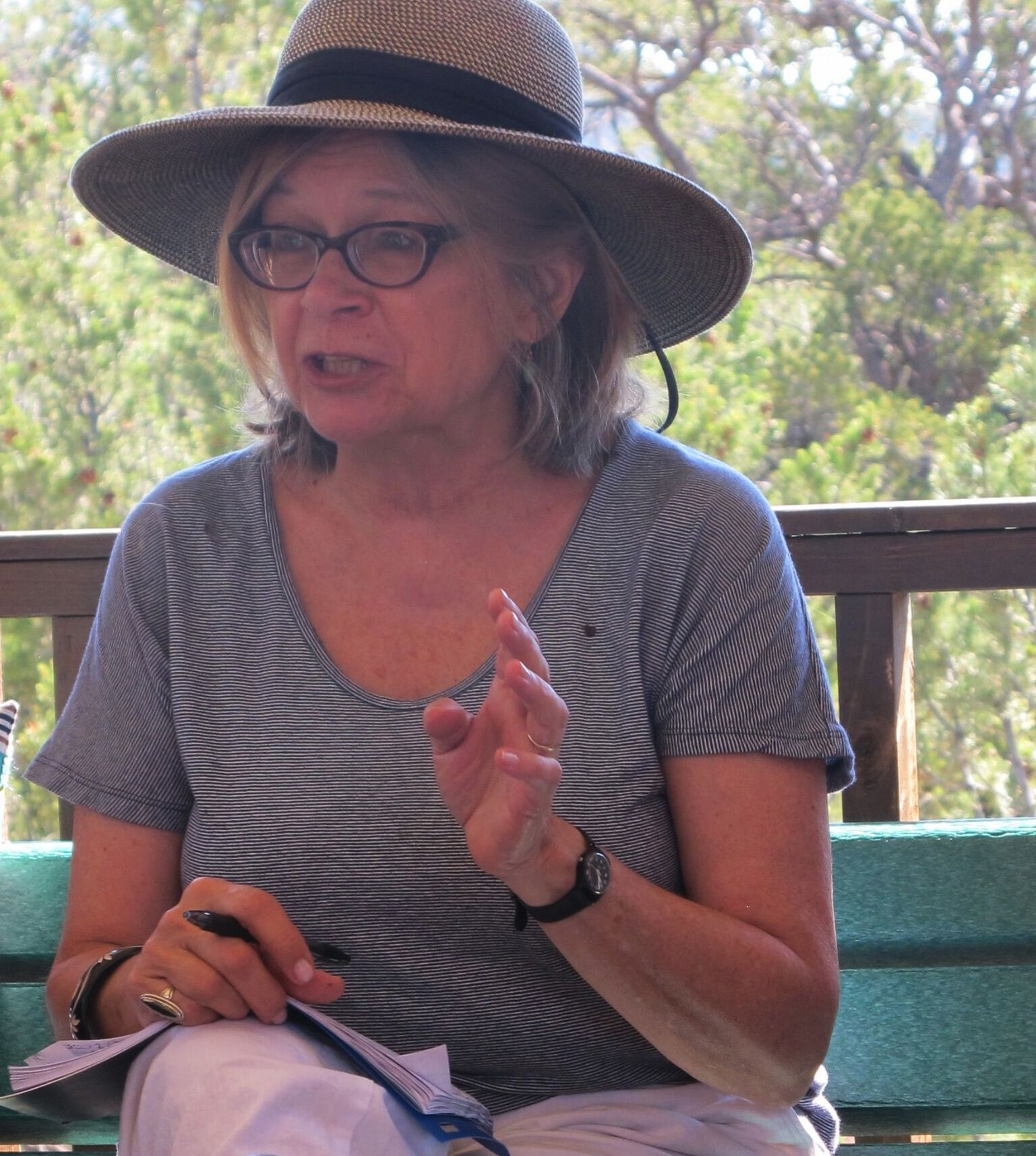Susan Yelavich at HighGround, July 2016; Photo by Janet Abrams
