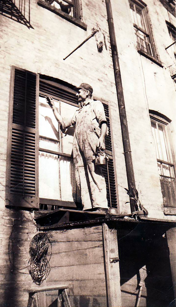 Mate Yelavich, handy man, c. 1950.