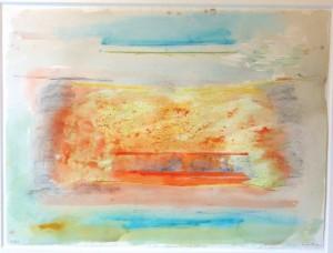 "Helen Frankenthaler, ""Relay II,"" 1976, mixed media on paper"