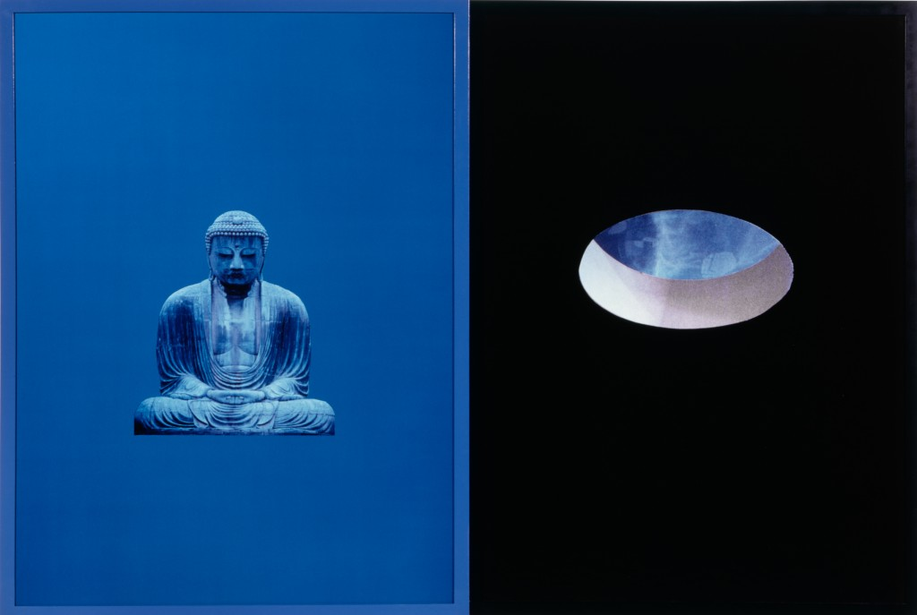 Buddha of Immeasurable Light, 1987 Cibachrome with lacquered wood frame