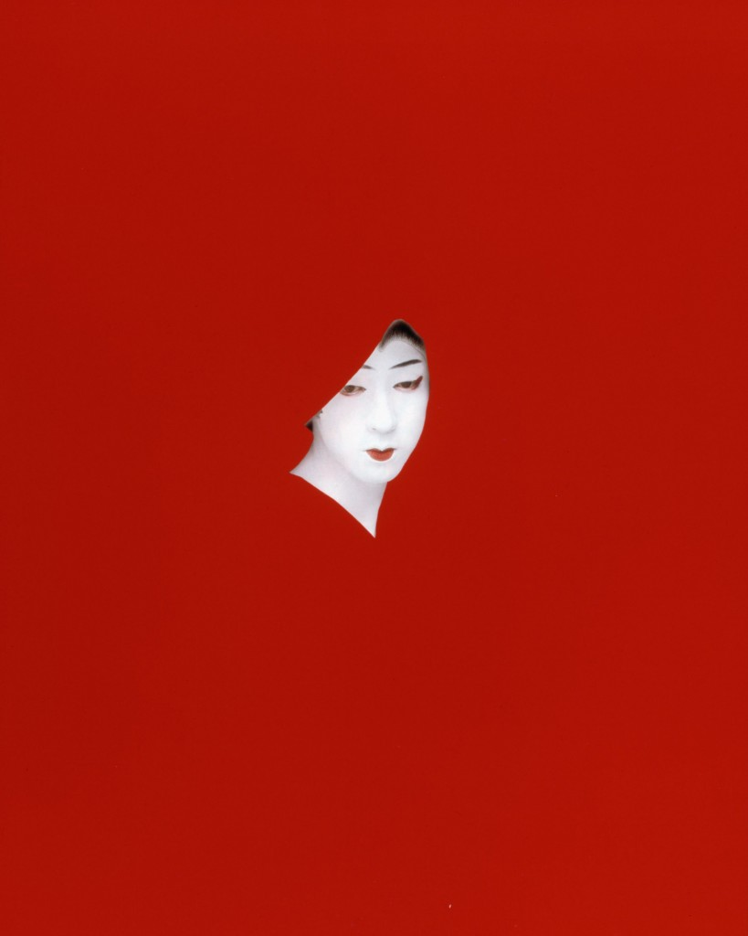 Red Mask, 1983 Cibachrome with lacquered wood frame