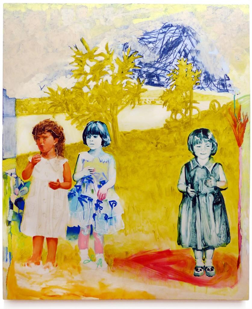 "Tamsin Doherty Hawaii 1947 Acrylic and oil on canvas 50 x 60"""