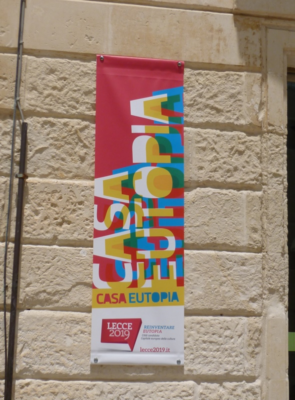 The themed banner for Lecce's 2019 ECOC designation. Courtesy of Yelavich.