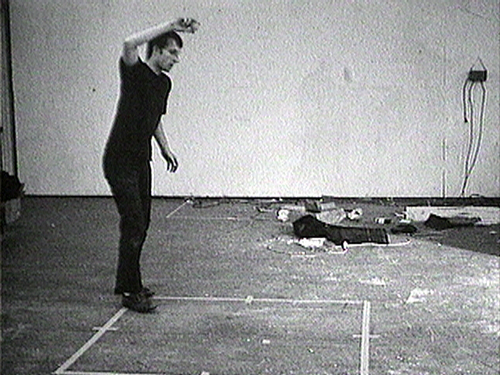 """From """"Bouncing Two Balls..."""" by Nauman. Courtesy of MoMA."""