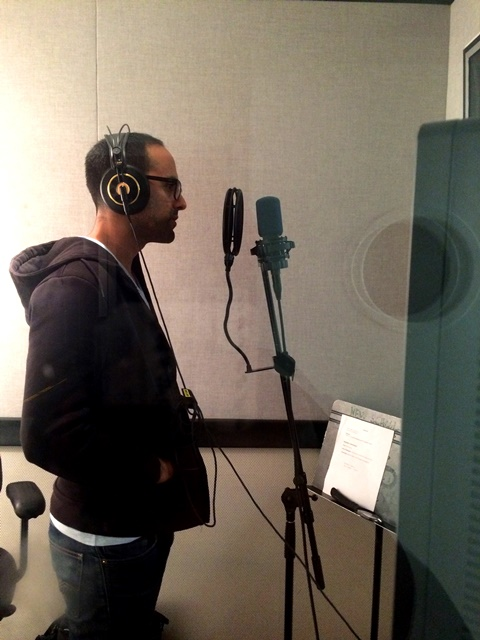 Danino working on a voiceover. Photo: Polo
