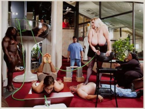 "Mika Rottenberg Pocono Party #2 from Exit Art Portfolio ""Expose"" C-Print 2008 Gift of Exit Art"